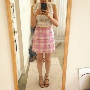 Pretty in Pink Plaid Mini Skirt